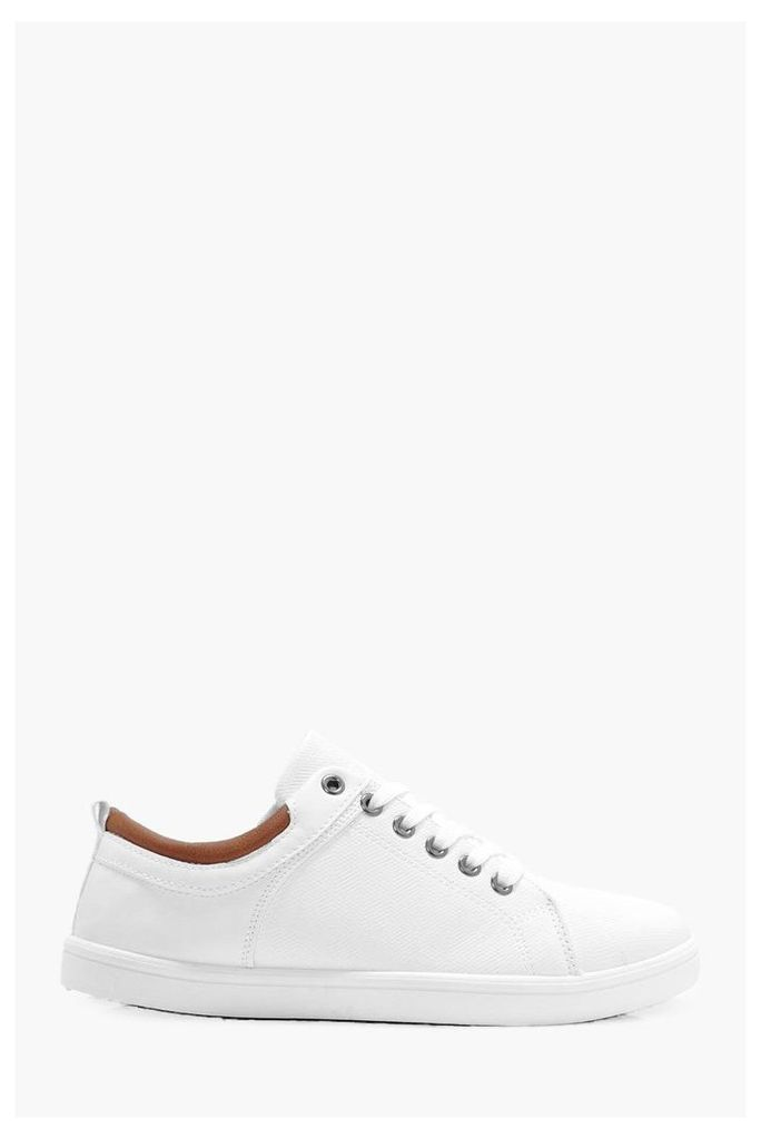 Lace Up Trainer - white