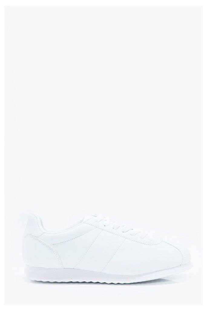 Lace Up Running Trainers - white