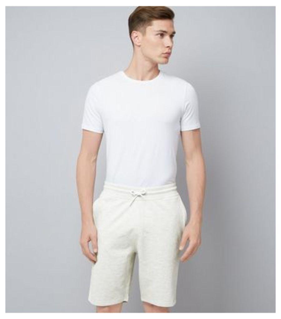 Cream Jersey Shorts New Look