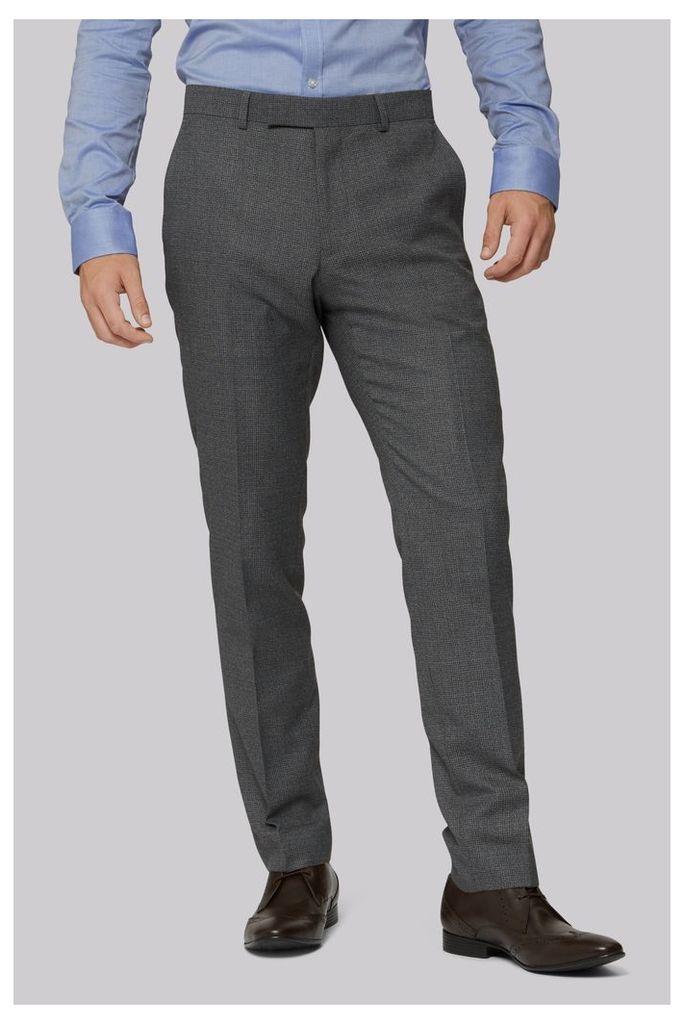 Moss London Light Grey Semi Plain Trouser