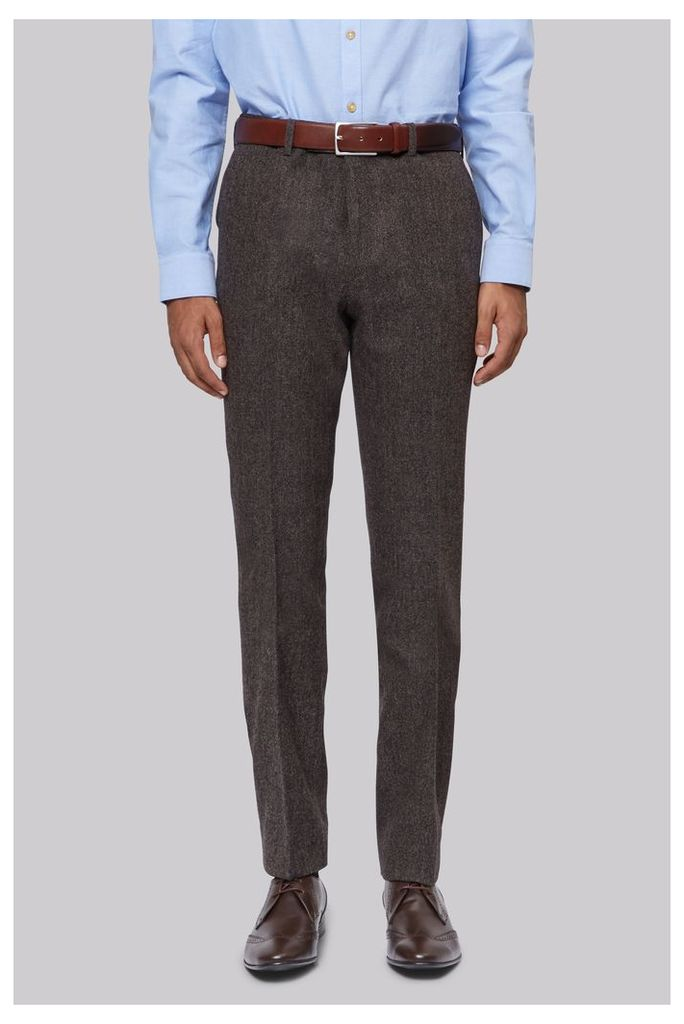 Moss London Brown Donegal Trousers