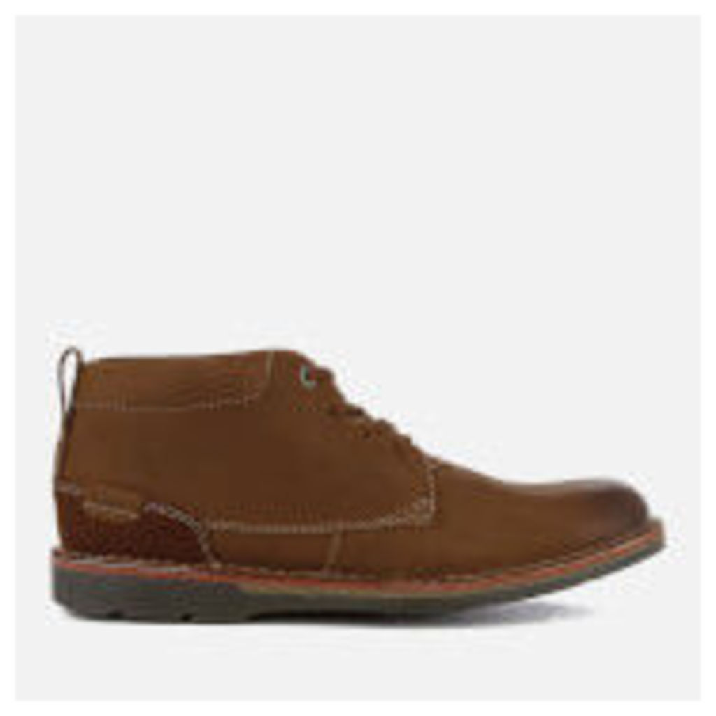 Clarks Men's Edgewick Mid Nubuck Chukka Boots - Tan - UK 7 - Tan