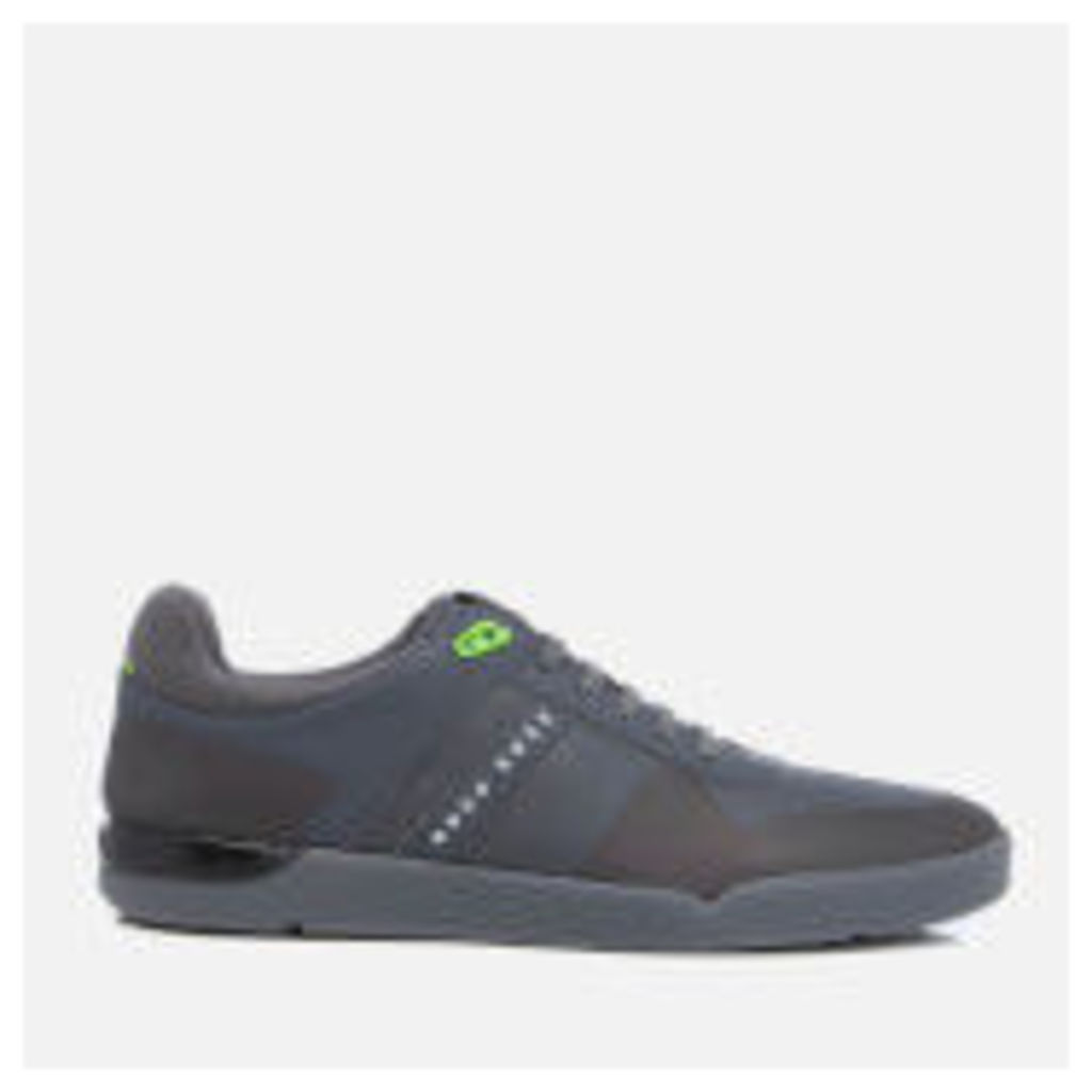 BOSS Green Men's Feather Tenn Trainers - Dark Grey - UK 7 - Grey