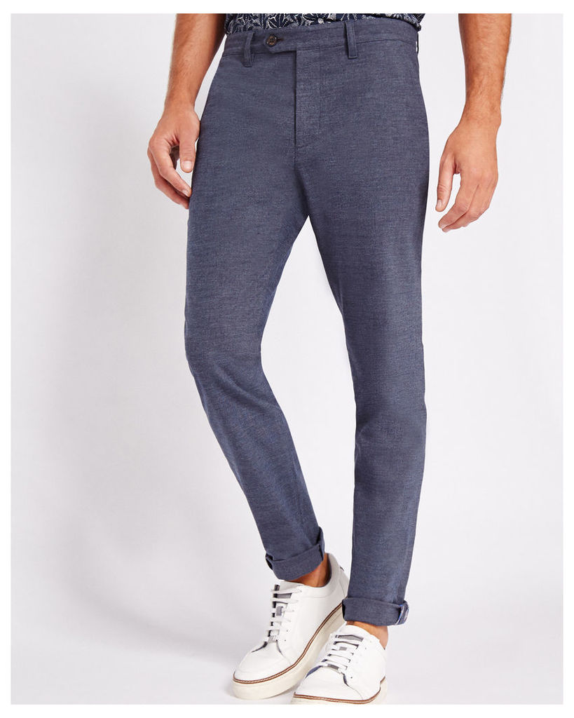 Ted Baker Tapered textured chinos Blue
