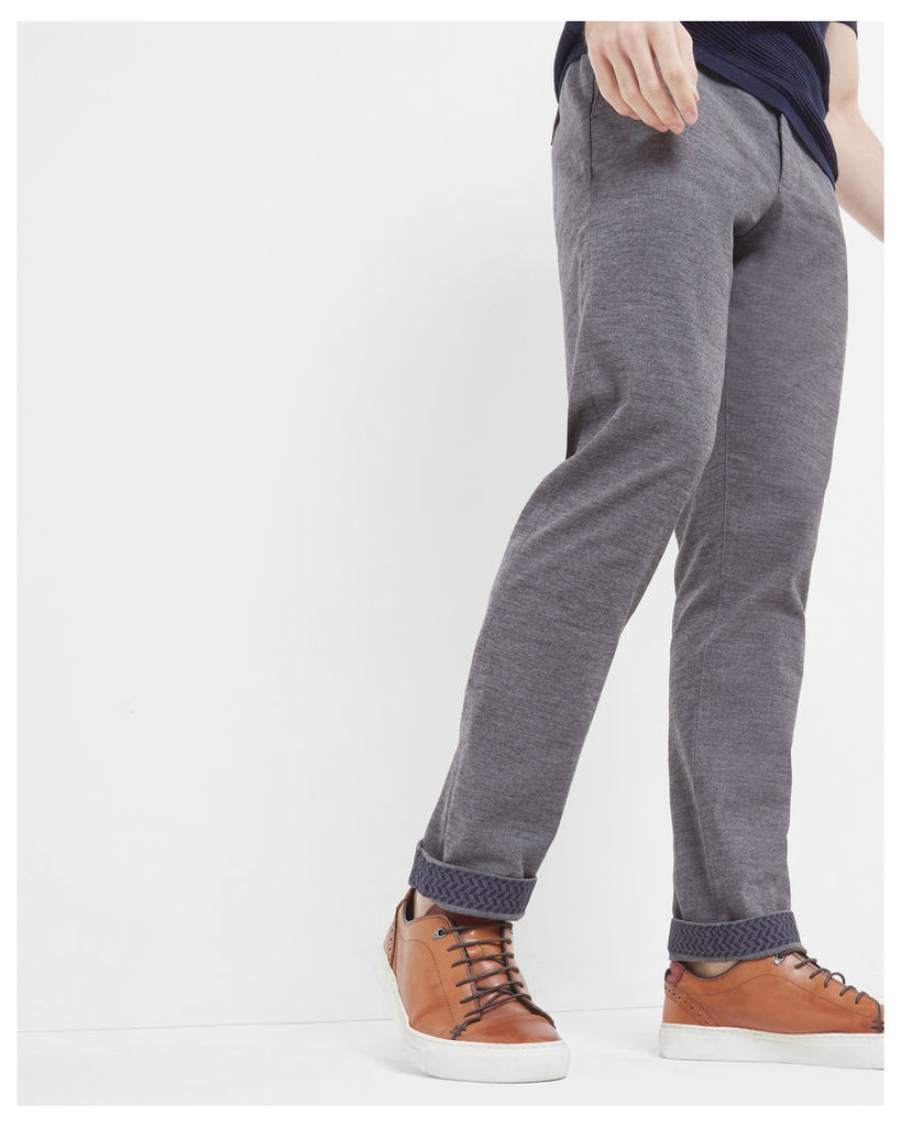 Ted Baker Classic fit Oxford cotton chinos Grey