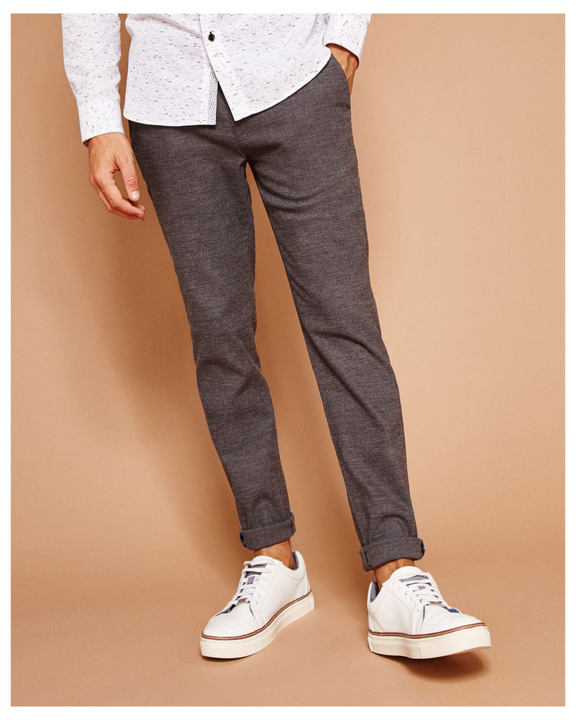Ted Baker Tapered textured chinos Grey