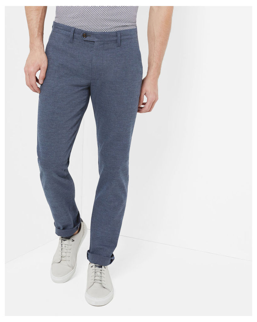 Ted Baker Slim fit textured trousers Blue