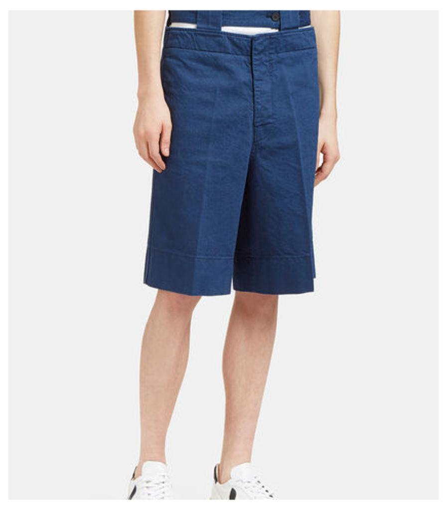 Cut-Out Denim Shorts