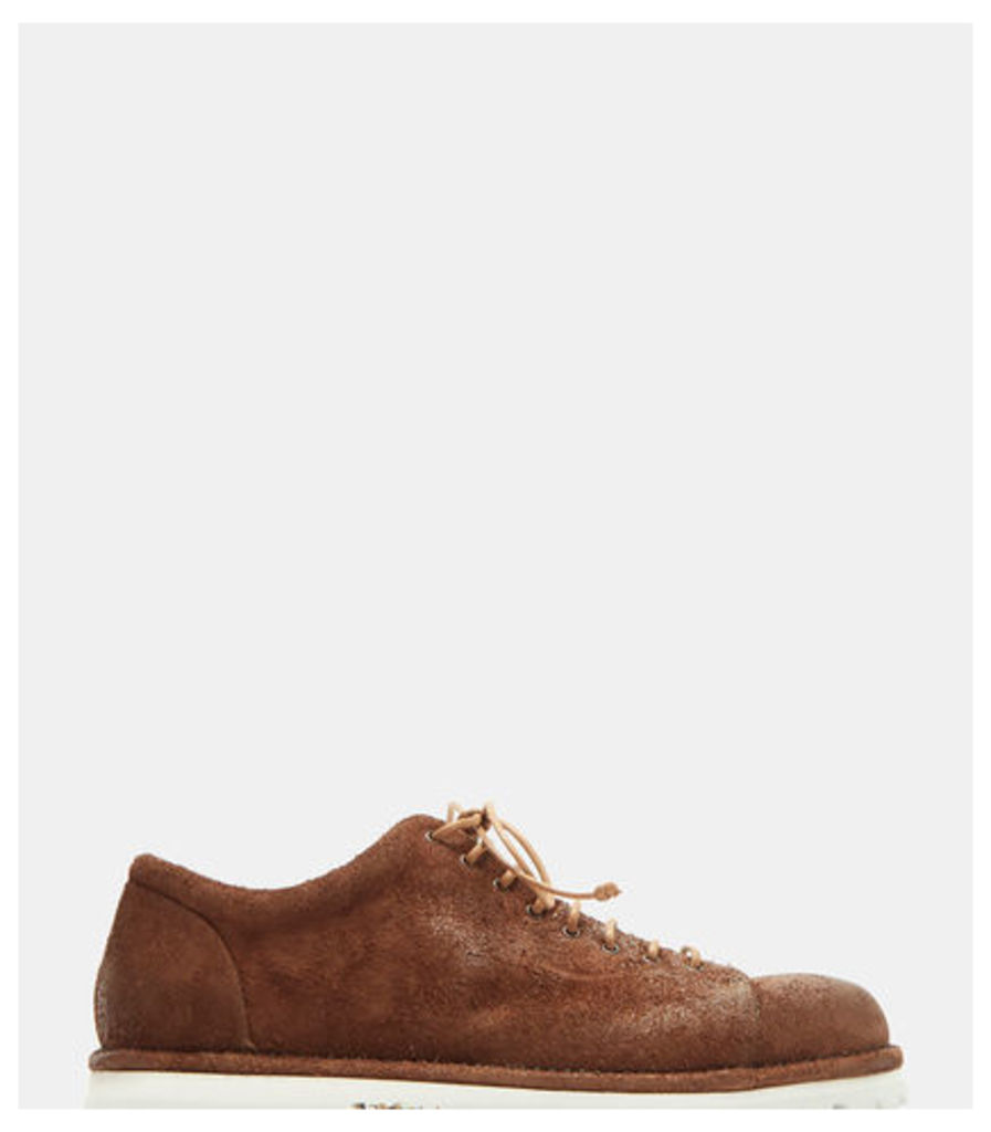 Pallottola Spalla Rovescio Suede Lace-Up Shoes