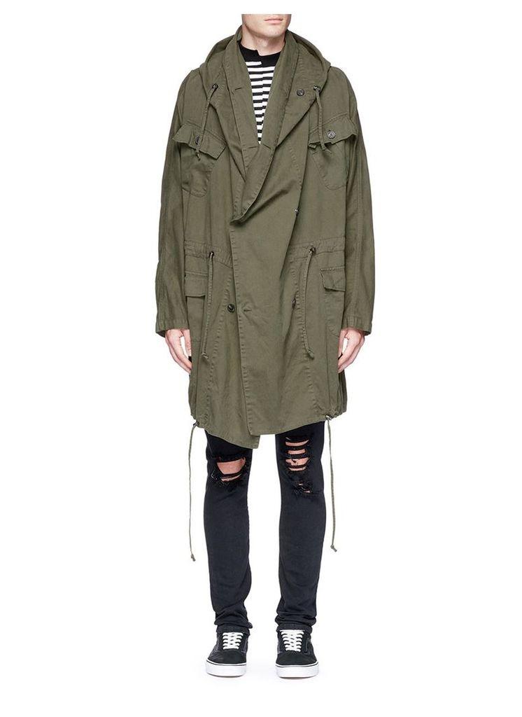 'Klein' oversized twill coat