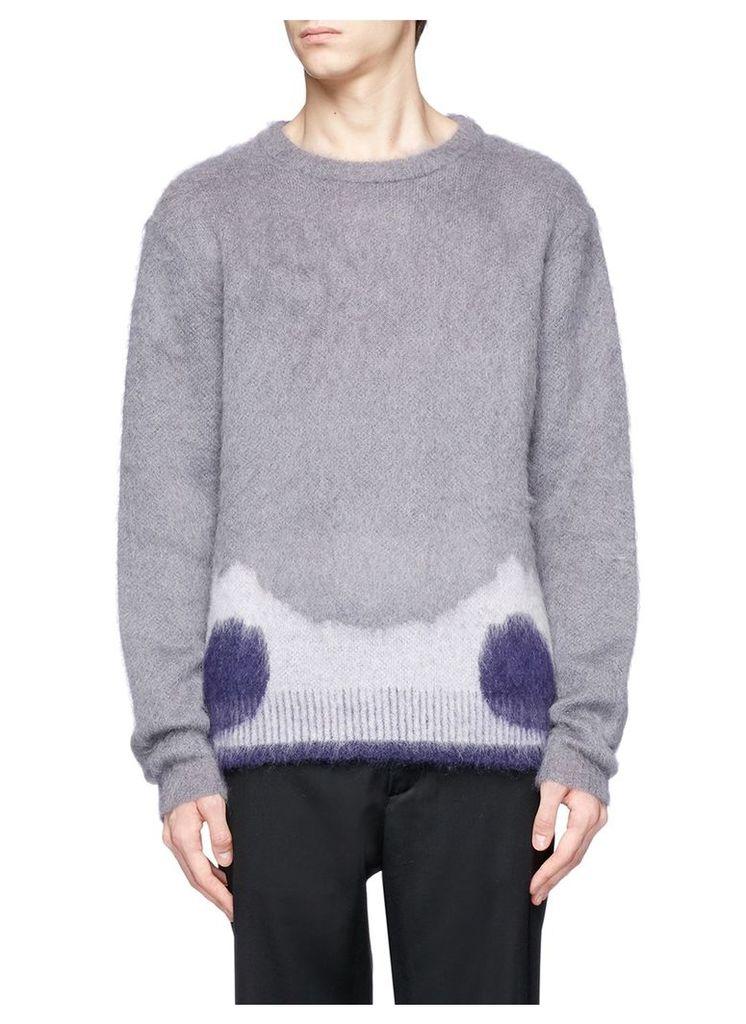 Moth wing intarsia sweater