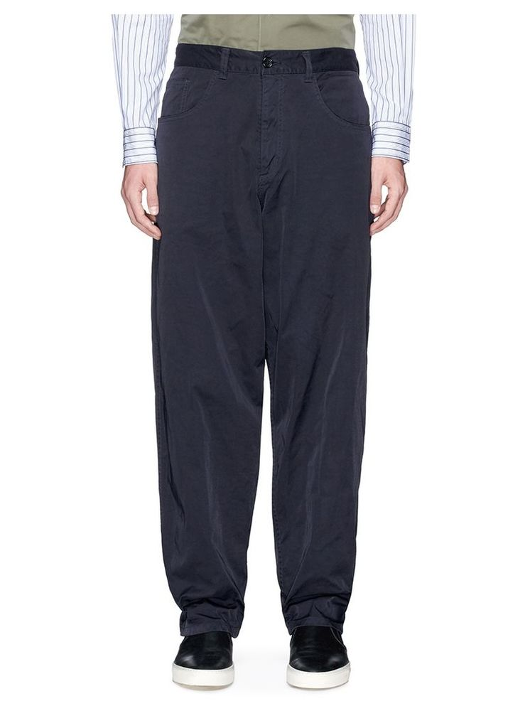 Relaxed fit nylon chinos
