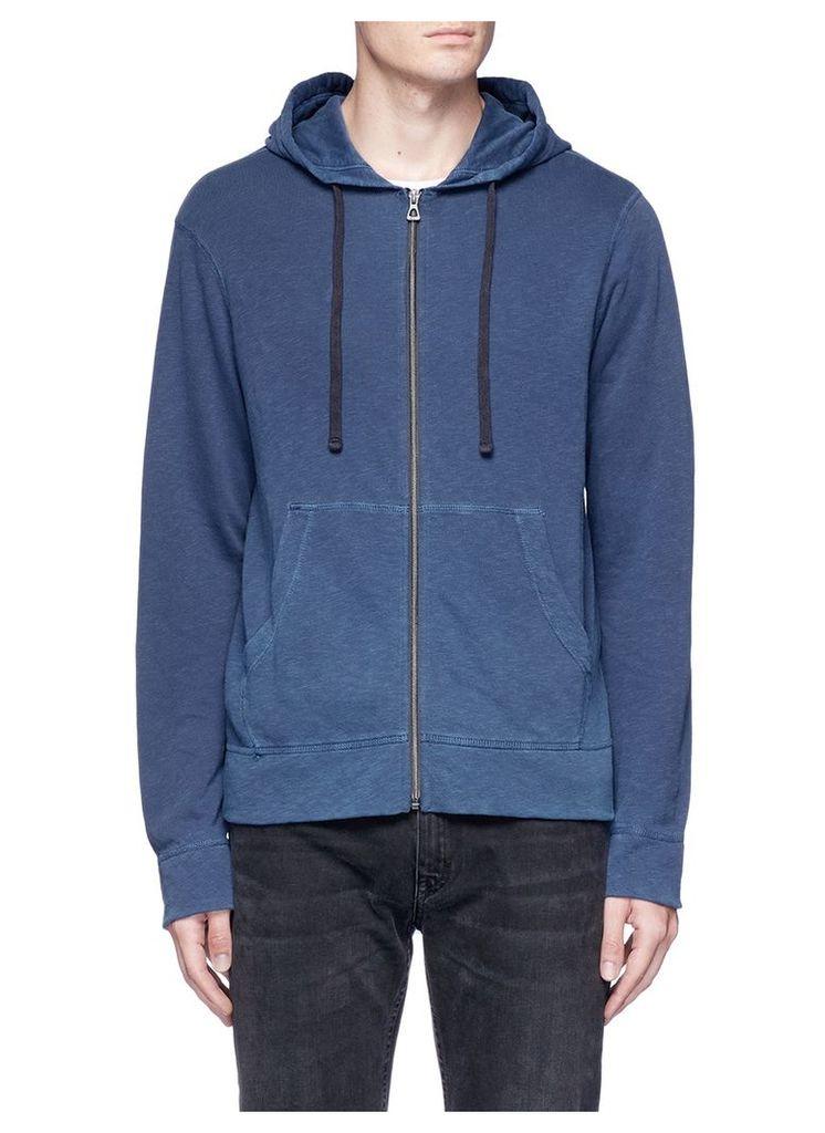Supima cotton zip hoodie