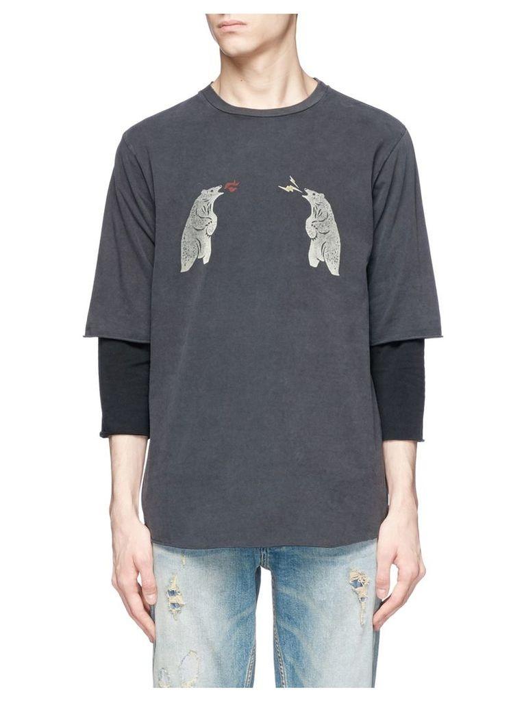 Bear print long sleeve T-shirt