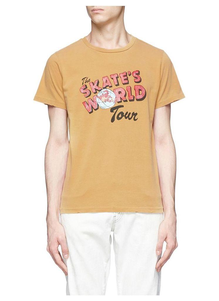 'The Skate's World Tour' print T-shirt