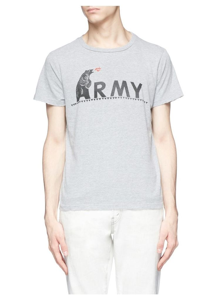 'Army' bear print T-shirt