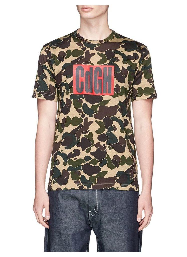 Logo box print camouflage T-shirt