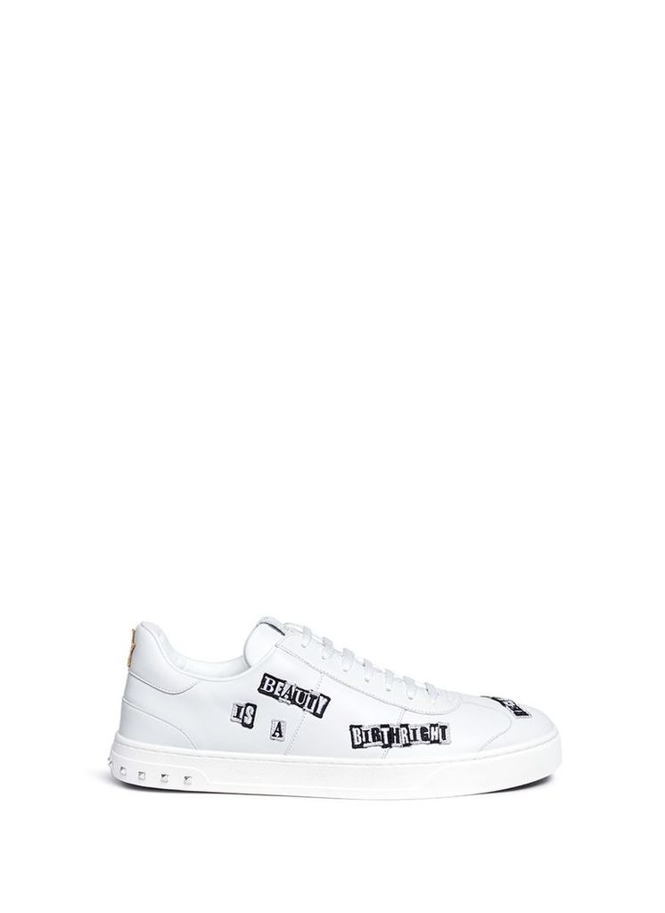 x Jamie Reid 'Flycrew' patch leather sneakers