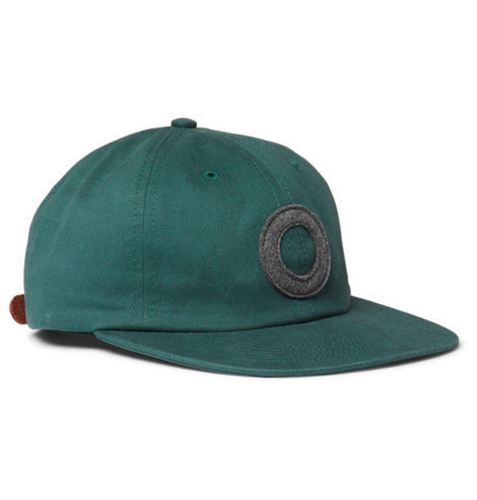 Pop Trading Company - Felt-appliquéd Cotton-twill Baseball Cap - Green