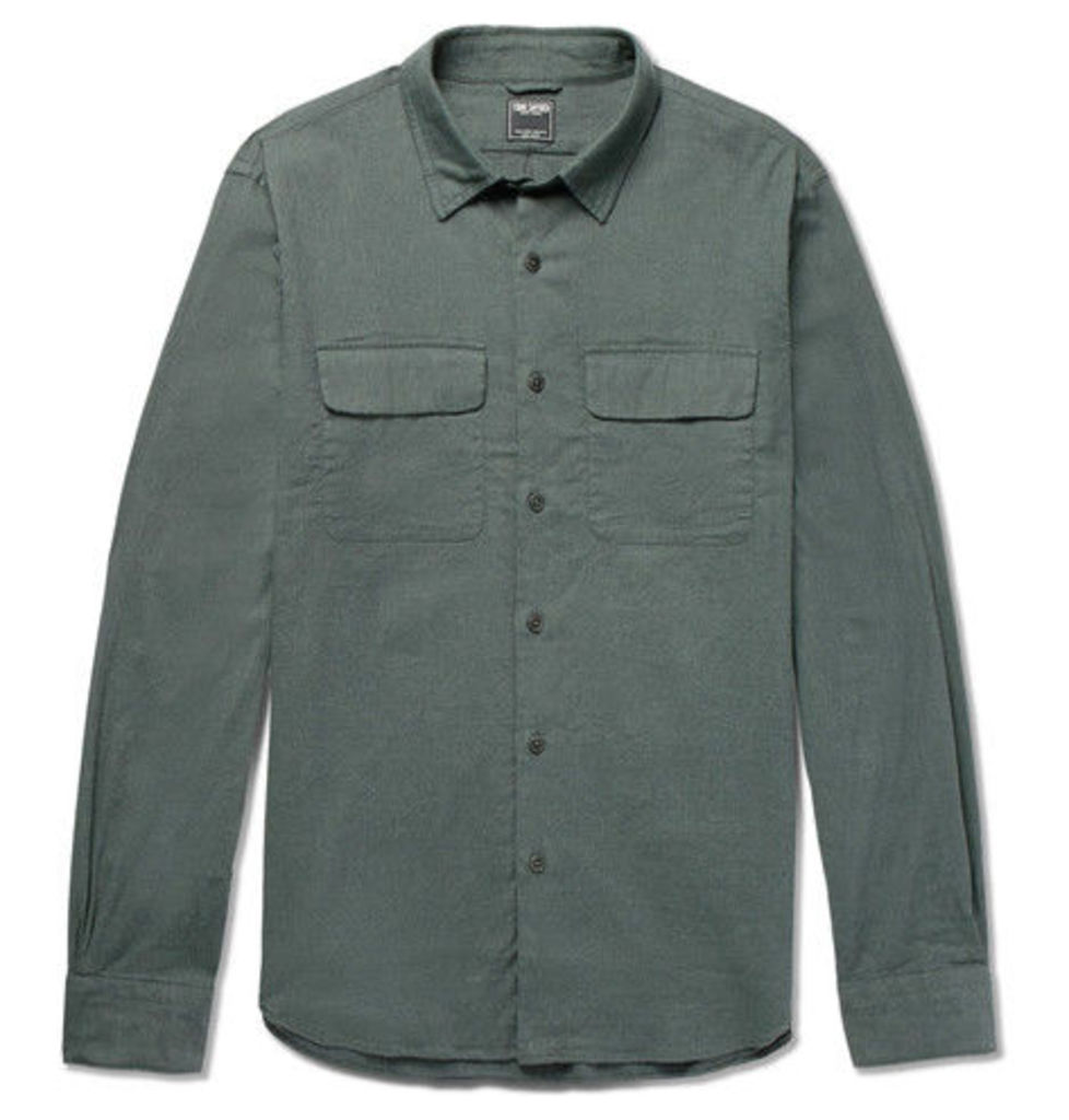 Todd Snyder - Brushed Stretch-cotton Twill Shirt - Green