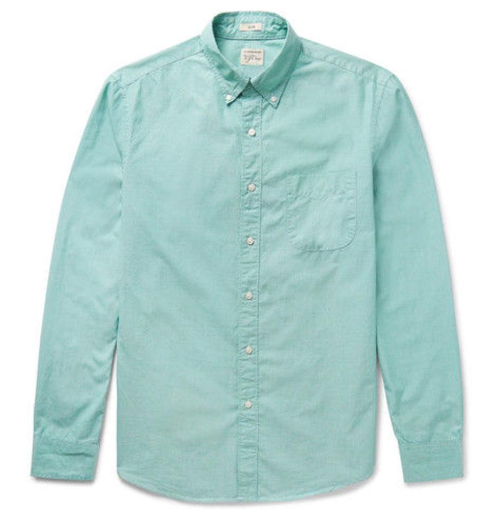 J.Crew - Button-down Collar End-on-end Cotton Shirt - Green