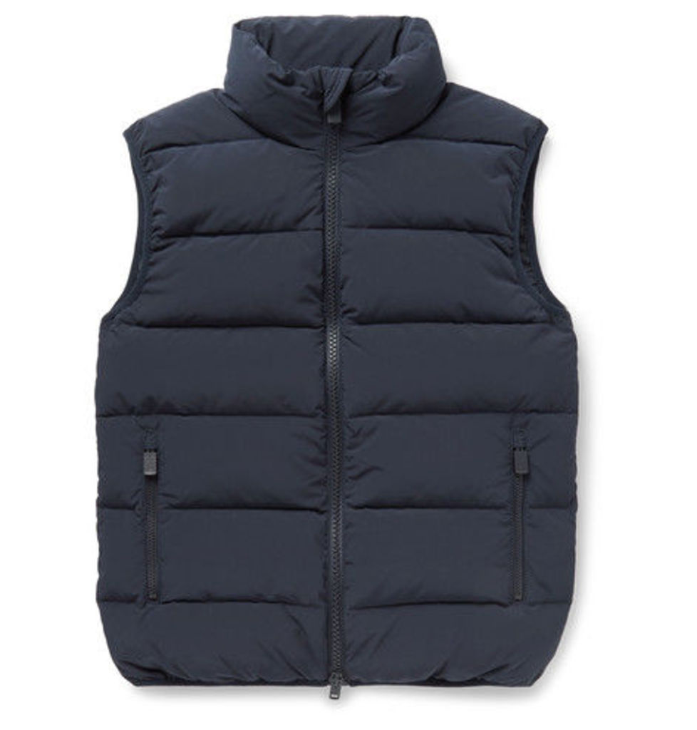 Aspesi - Agile Quilted Shell Down Gilet - Navy