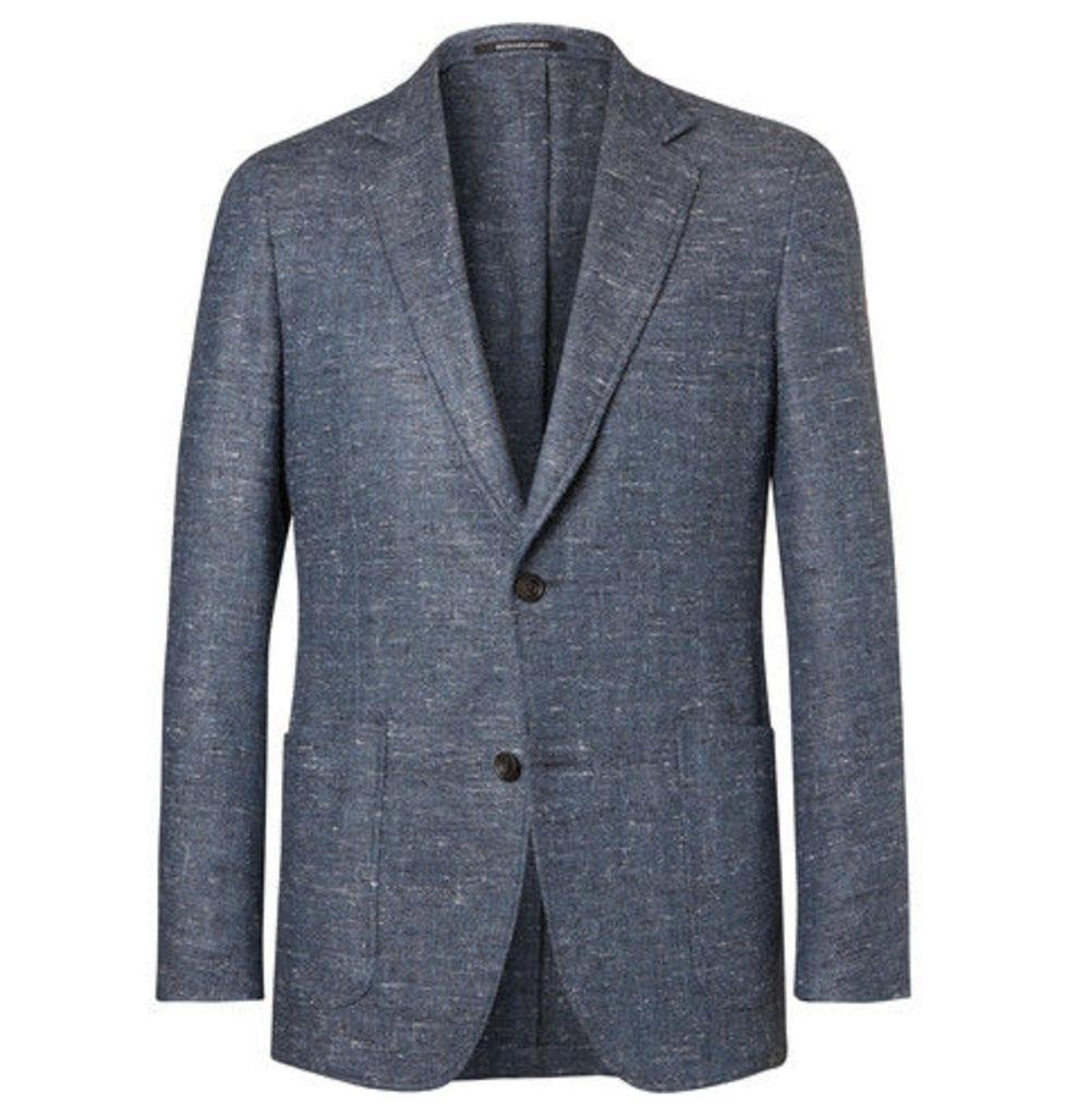 Richard James - Blue Slim-fit Slub Silk, Wool And Cashmere-blend Blazer - Blue