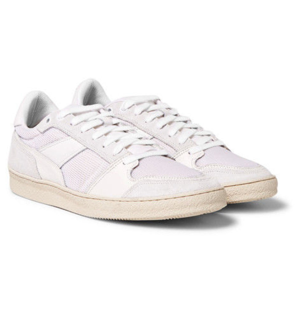 AMI - Leather, Suede And Mesh Sneakers - White