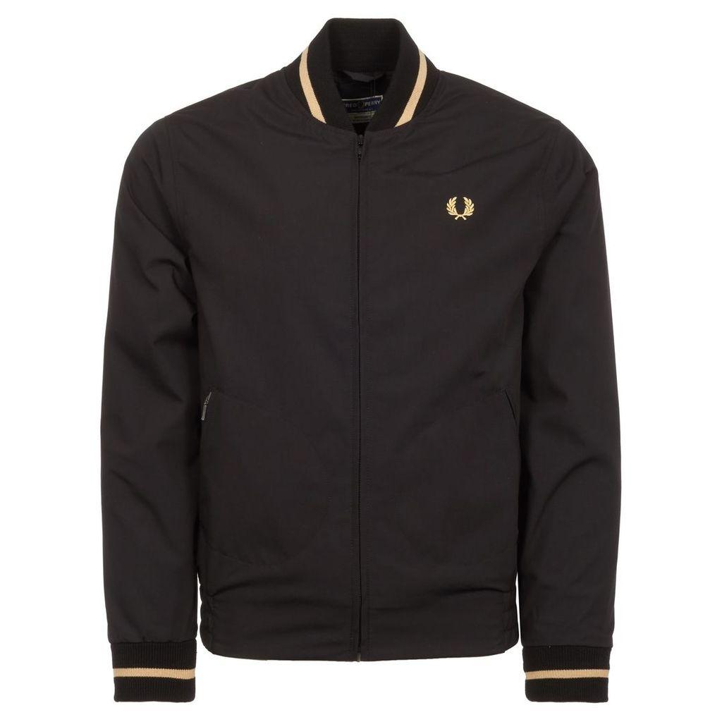 Black Tennis Bomber Jacket
