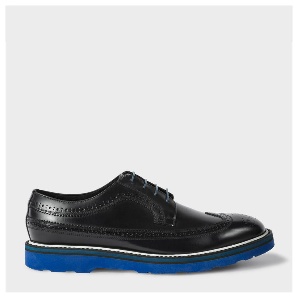 Men's Navy Leather 'Grand' Brogues With Tonal Soles