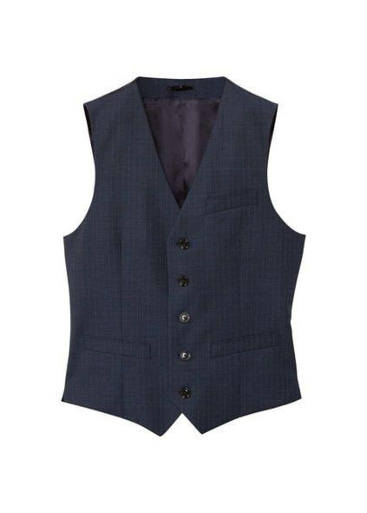 Slim-fit cold wool suit gilet