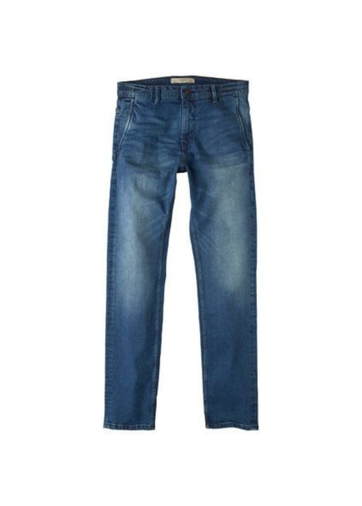 Slim-fit vintage wash jeans