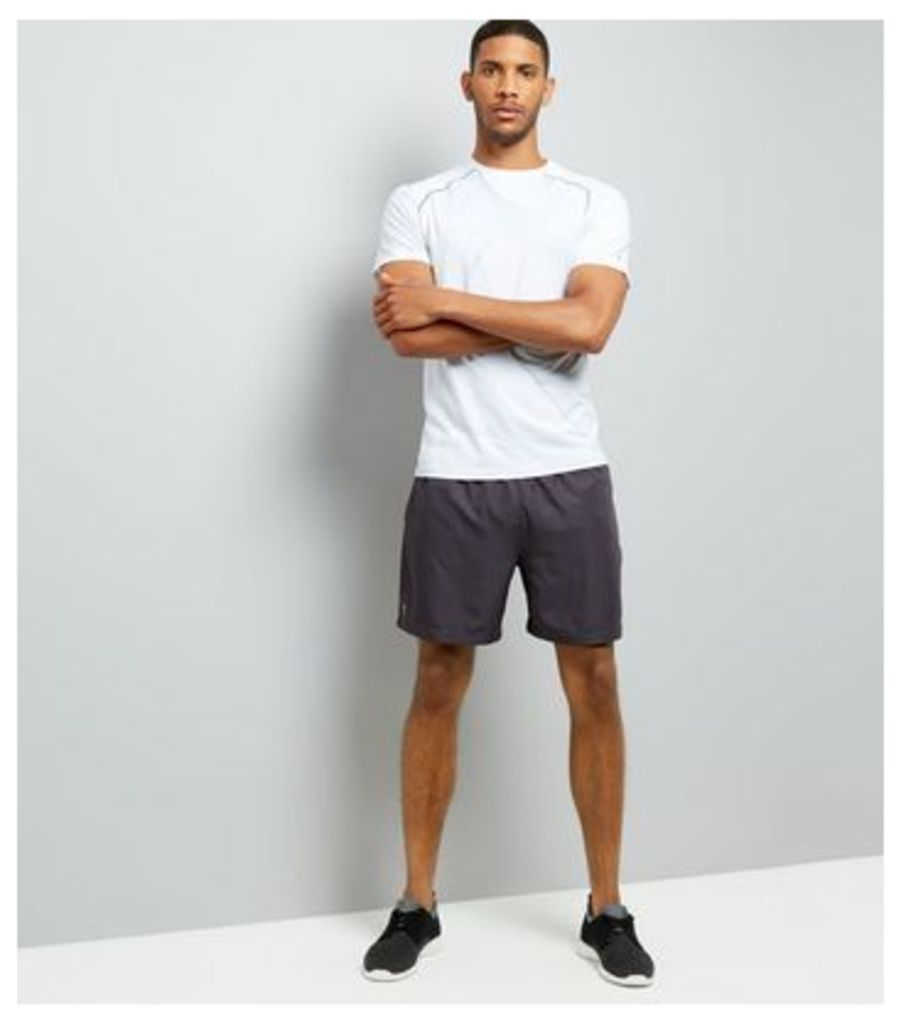 Grey Running Shorts New Look