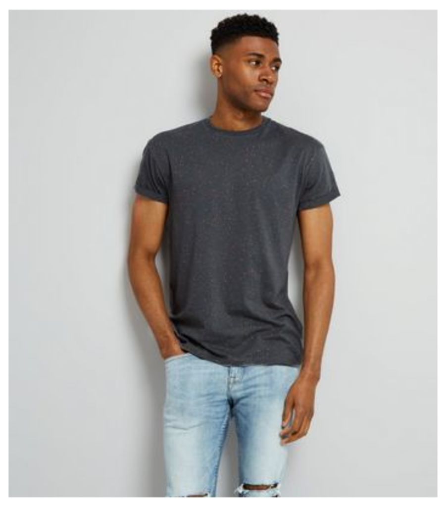 Grey Spray Wash T-Shirt New Look