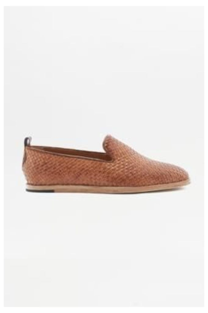 H by Hudson Woven Slippers, BEIGE