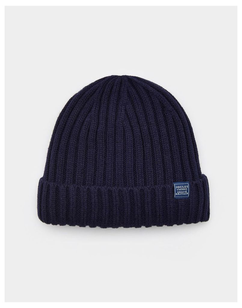 Midnight Bamburgh Beanie Hat  Size One Size | Joules UK