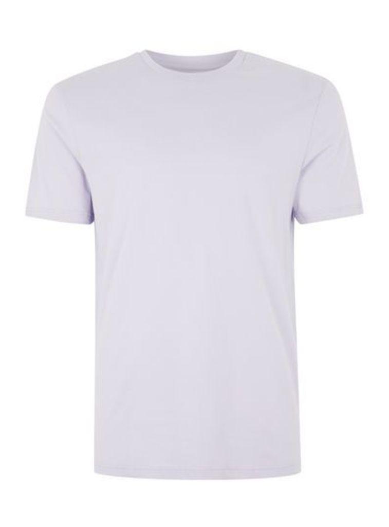 Mens Purple Lilac Slim Fit T-Shirt, Purple