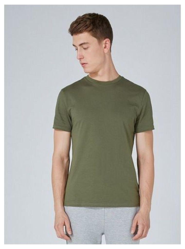 Mens Khaki Slim Fit T-Shirt 3 Pack*, Khaki