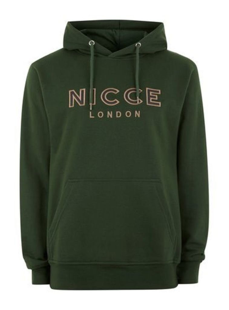 Mens Green NICCE Signature Hoodie, Green
