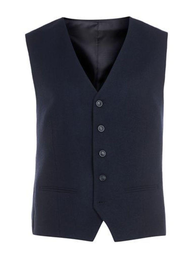 Mens Blue SELECTED HOMME Navy Waistcoat, Blue