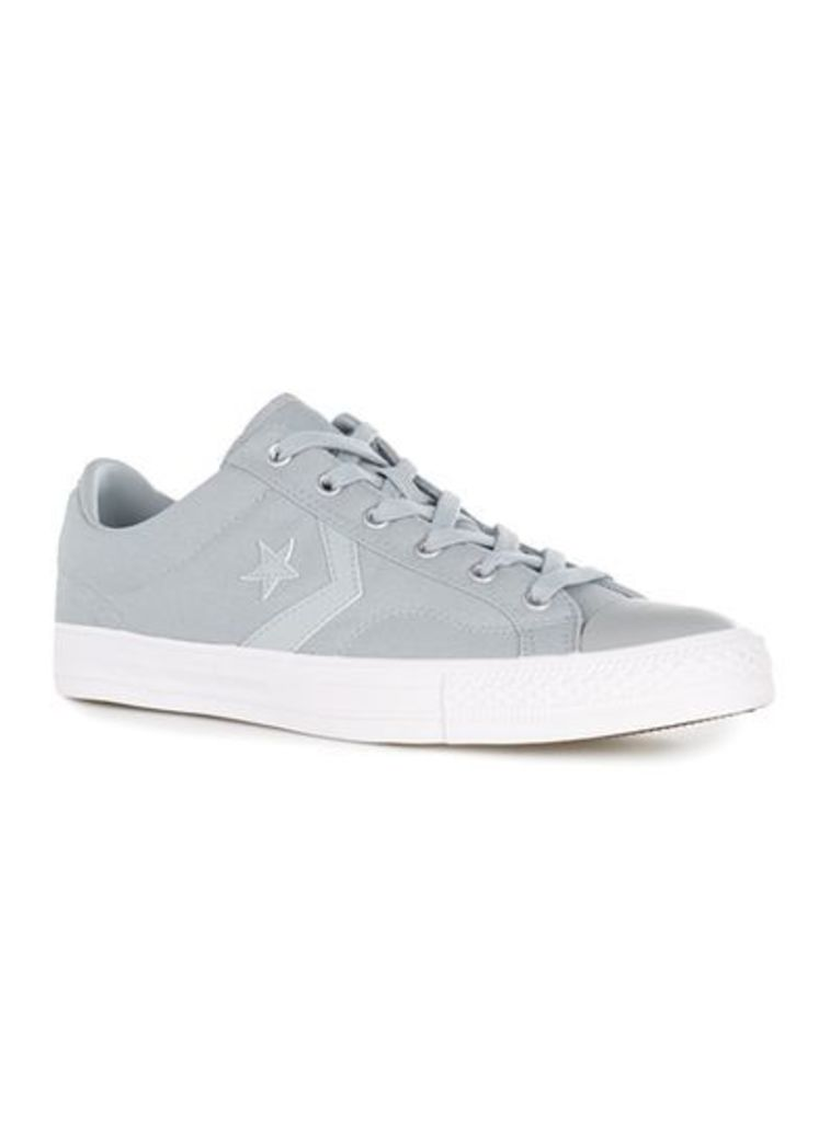 Mens CONVERSE Grey Star Player Trainers, Grey