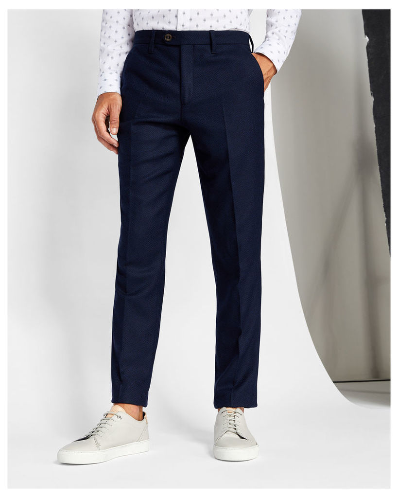 Ted Baker Textured wool trousers Navy