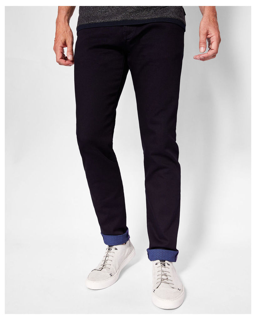 Ted Baker Printed hem jeans Dark Blue