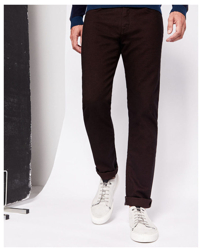 Ted Baker Straight fit hybrid jeans Dark Red