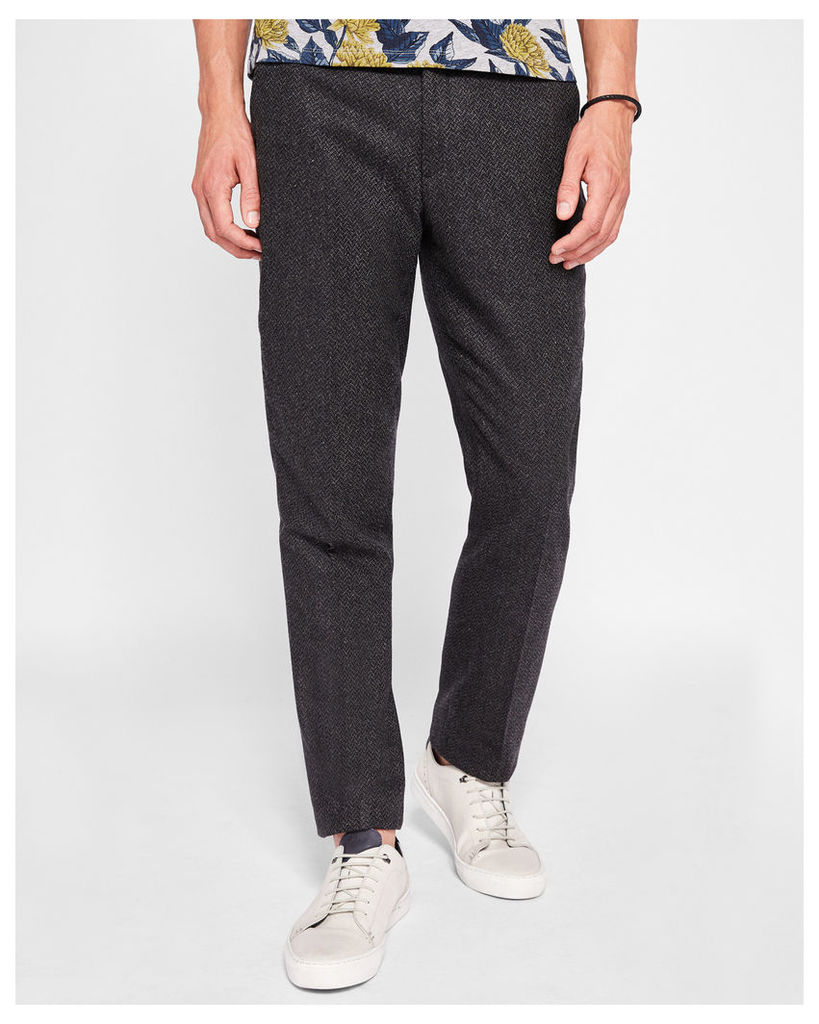 Ted Baker Textured wool trousers Charcoal
