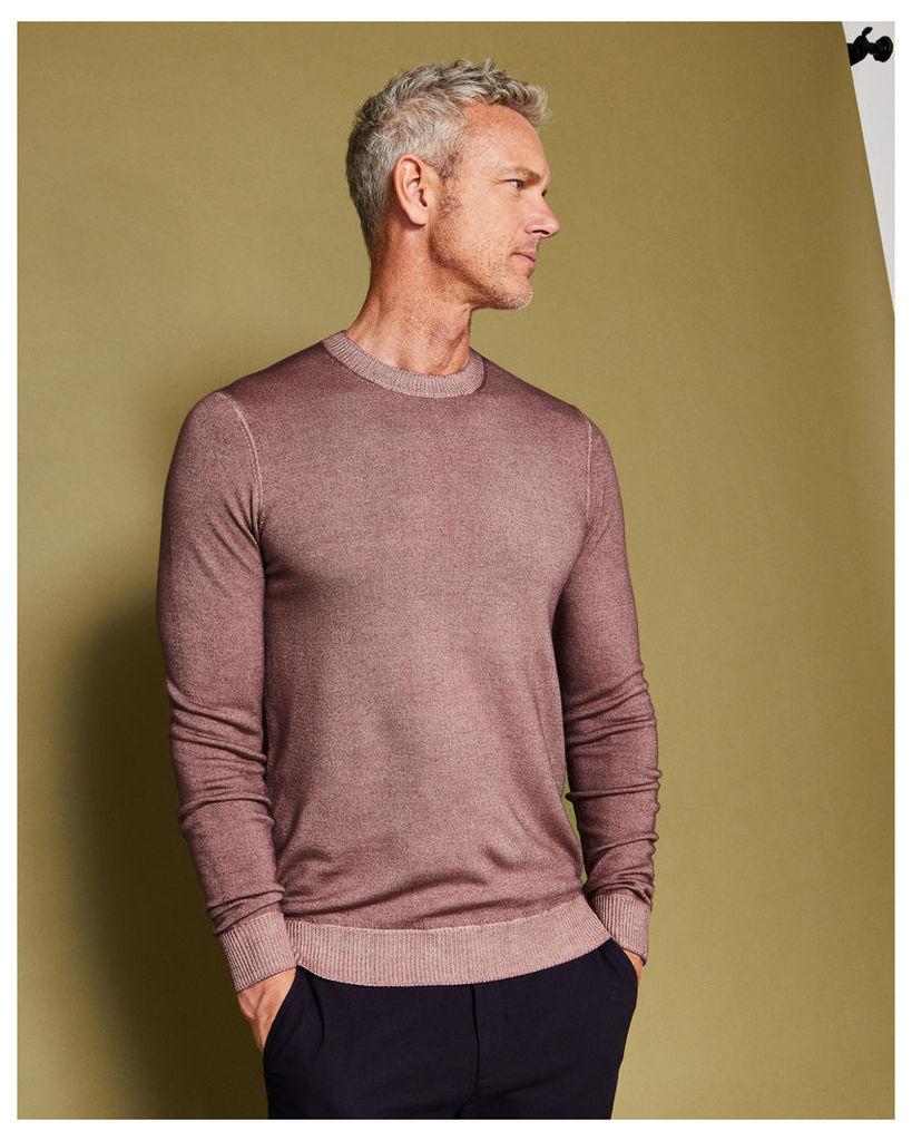 Ted Baker Washed wool jumper Dusky Pink