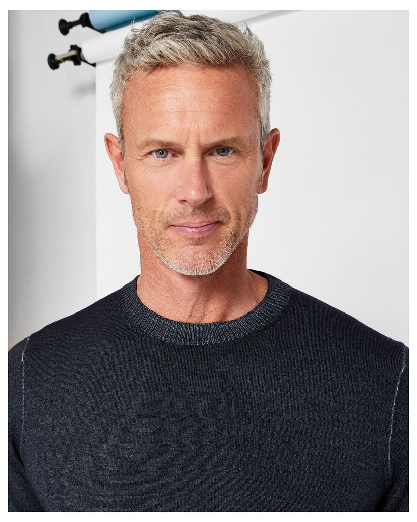 Ted Baker Washed wool jumper Charcoal