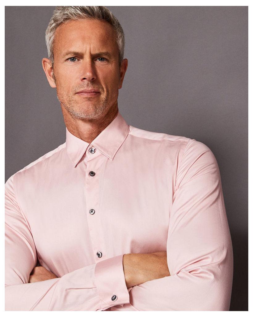 Ted Baker Satin stretch cotton-blend shirt Pink
