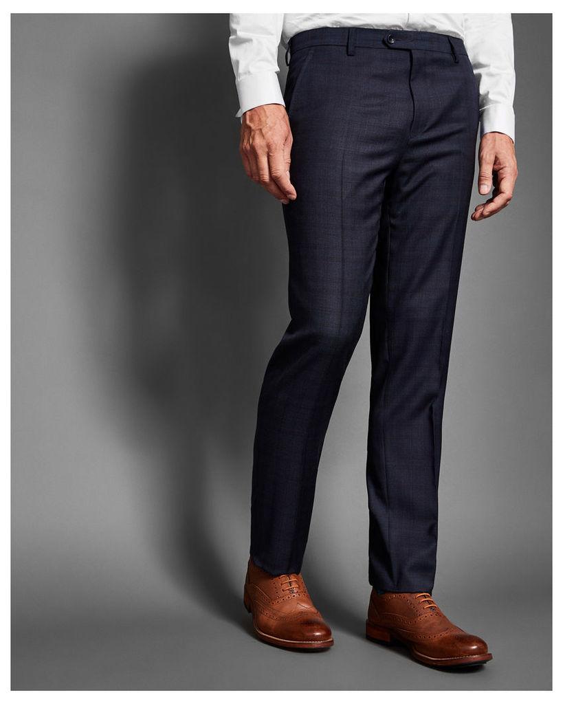 Ted Baker Debonair checked wool trousers Teal