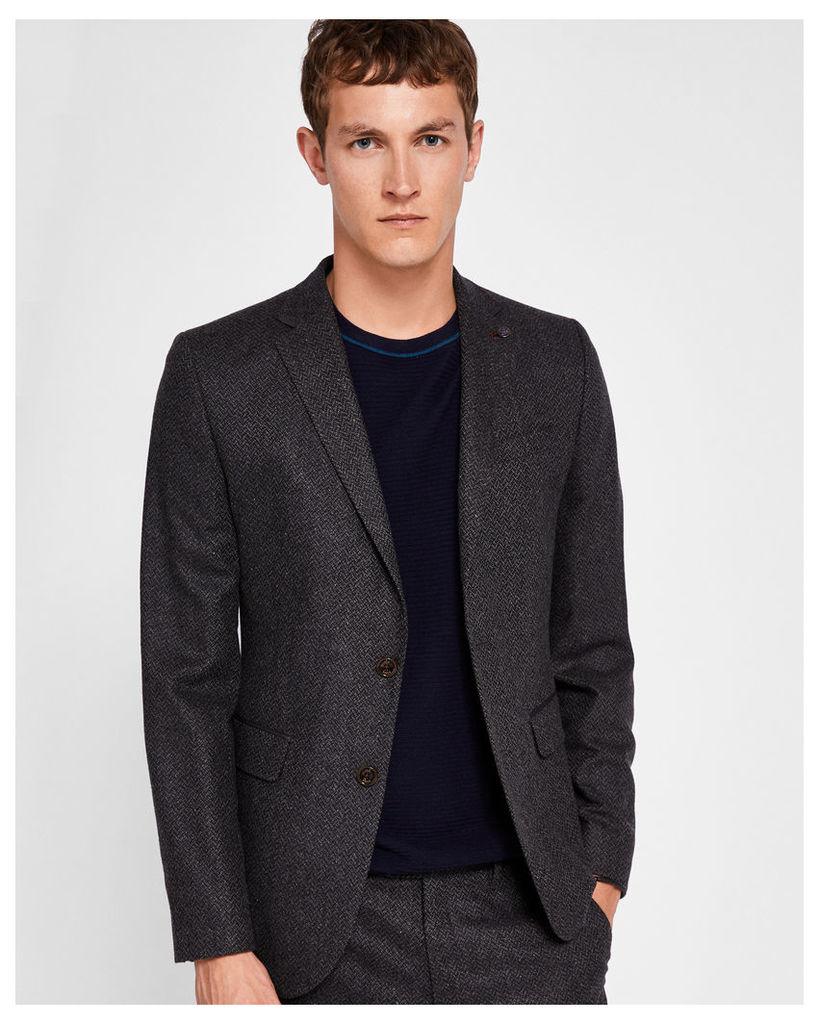Ted Baker Semi plain wool-blend jacket Charcoal